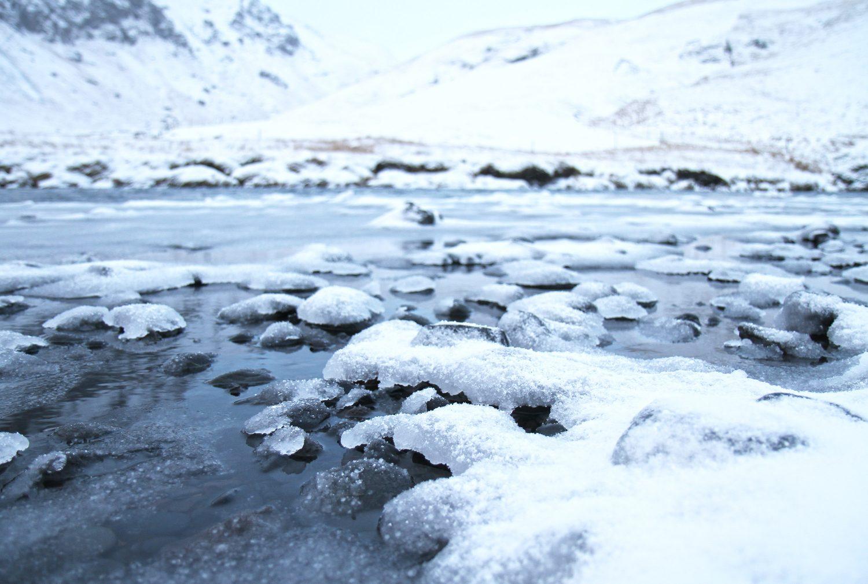 neige en islande en hiver
