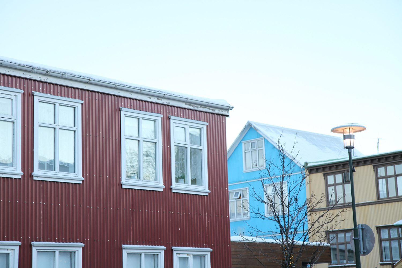 maisons colorées à reykjavik