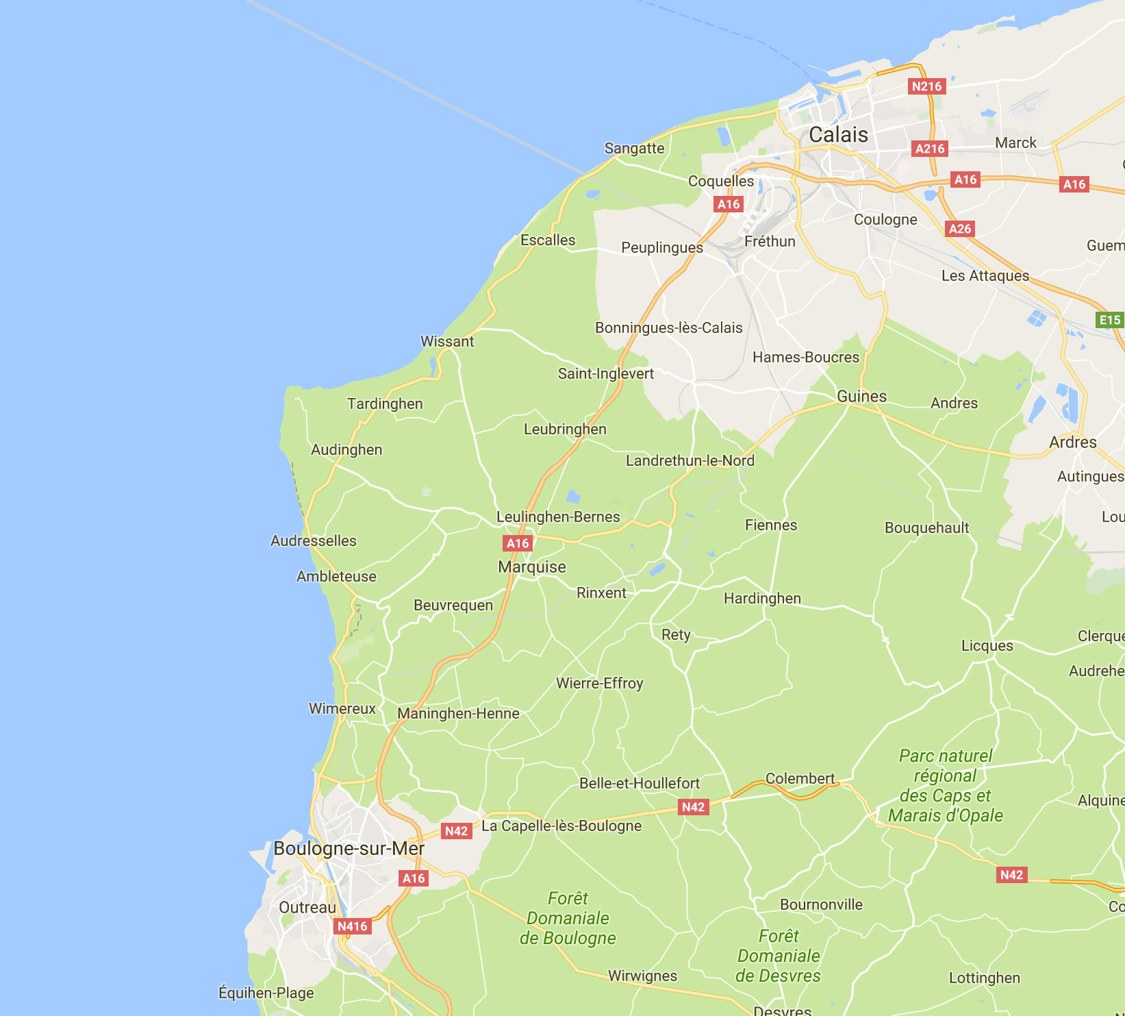 Célèbre La Côte d'Opale : de Calais à Boulogne VN09
