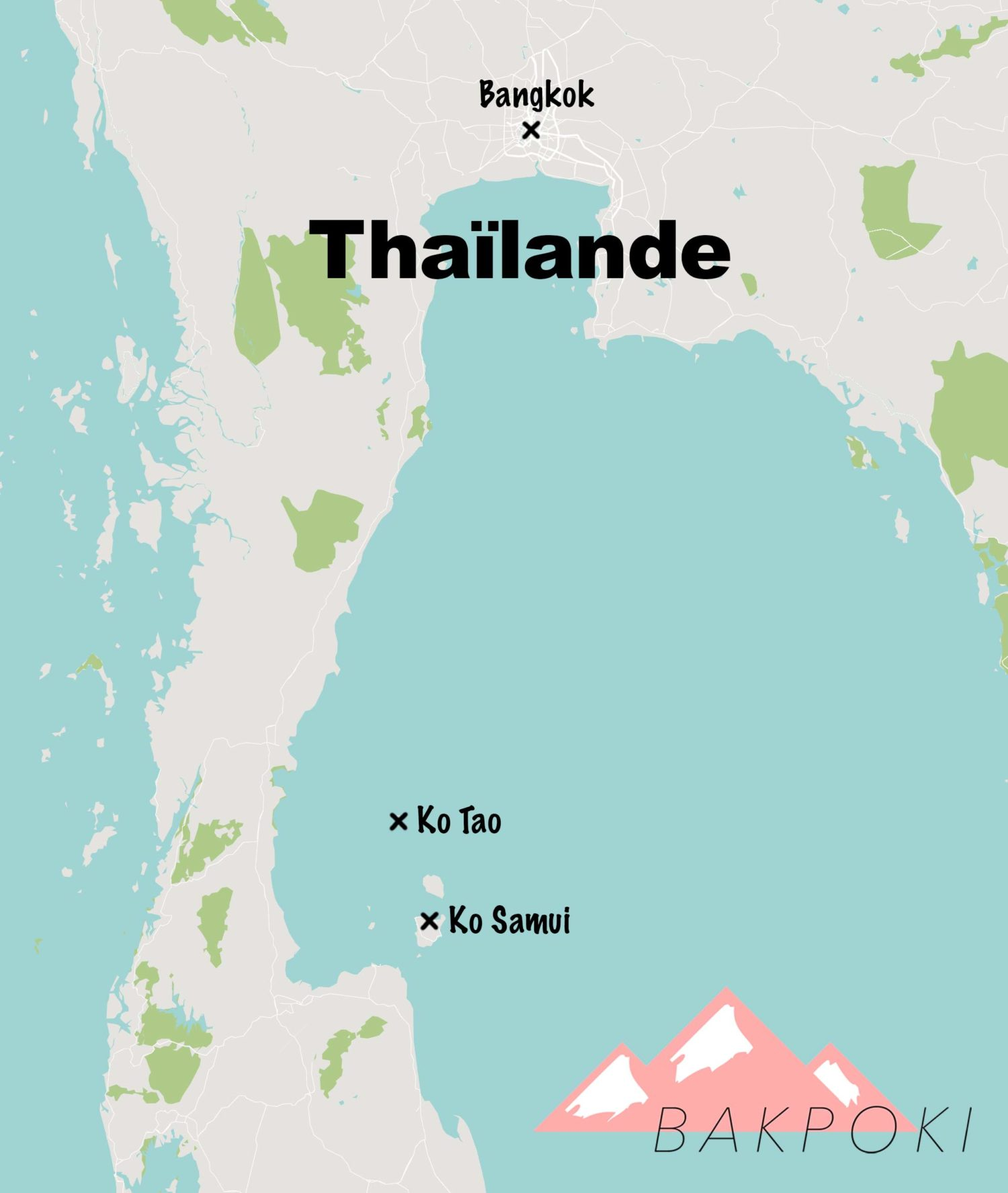 Carte voyage Thaïlande