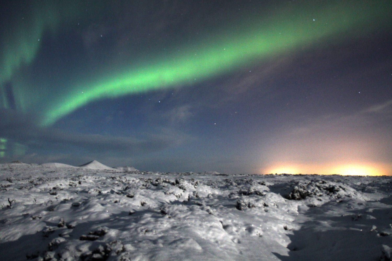 Aurore boréal en Islande