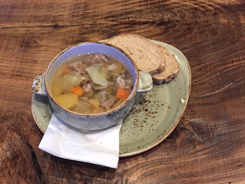 soupe islandaise à l'agneau