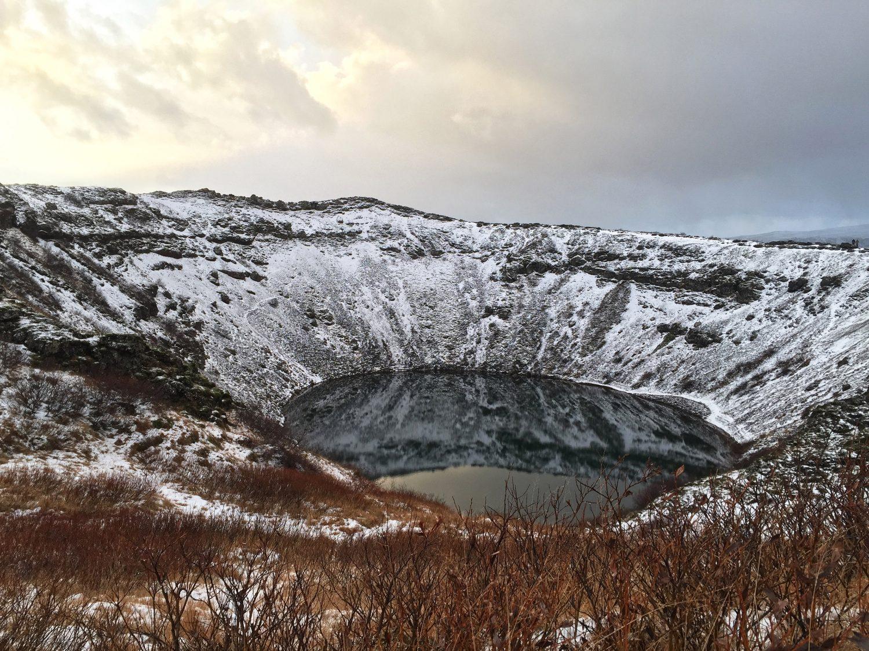 cratère du volcan kérid en islande