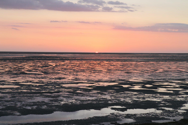 coucher de soleil en baie de somme