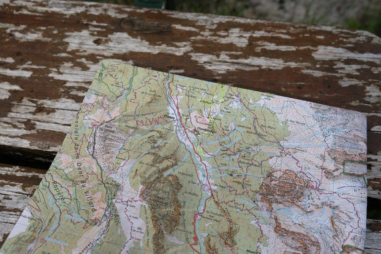 Carte randonnée itinérante parc national de la Vanoise