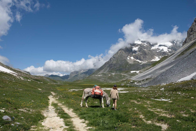 randonnée avec un âne parc national de la Vanoise